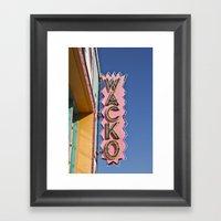 WACKO Framed Art Print