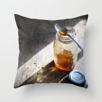 Sunlight And Honey - Kit… Throw Pillow