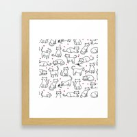 Kitties With Hearts Framed Art Print