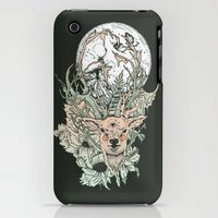 iPhone 3Gs & iPhone 3G Cases featuring D E E R M O O N by Cassidy Rae Limbach