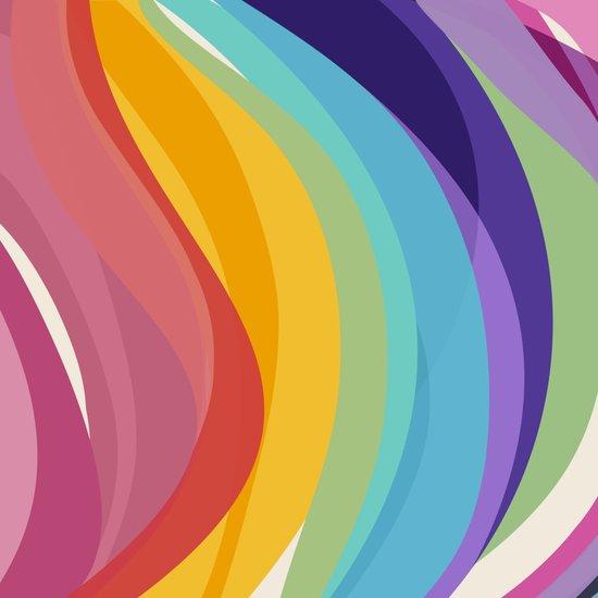 Fig. 045 Colorful Swirls Art Print