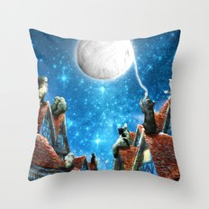 Feline Dreams Throw Pillow