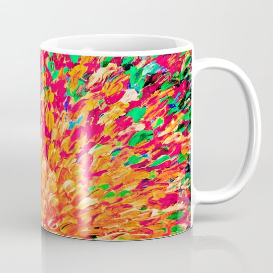 NEON SPLASH - WOW Intense Dash of Cheerful Color, Bold Water Waves Nature Lovers Modern Abstract  Mug