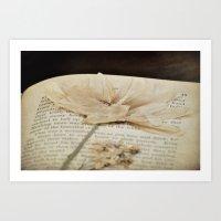 Myths, Flowers Art Print