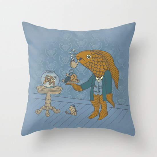 Big Eyed Fish Throw Pillow
