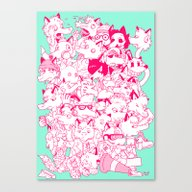 FULL OF FOXES Canvas Print