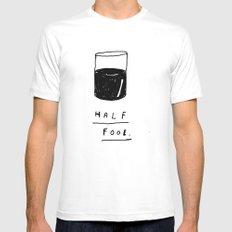 HALF FOOL Mens Fitted Tee SMALL White