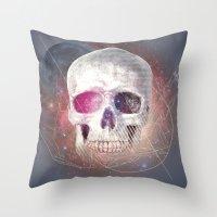 Astral Skull Throw Pillow