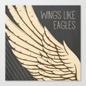 Isaiah 40:31 Wings like Eagles Canvas Print