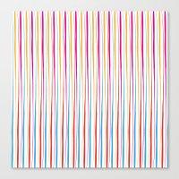 Happy Wobbly Lines II Canvas Print