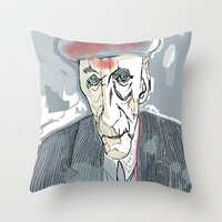 William S. Burroughs Throw Pillow