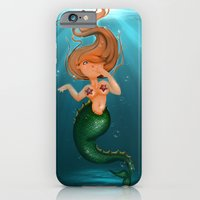 iPhone & iPod Case featuring mermaid by Alapapaju