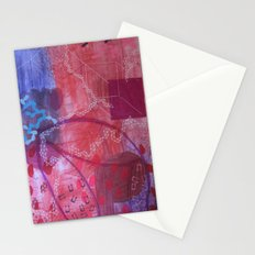 Rouge abstract Stationery Cards