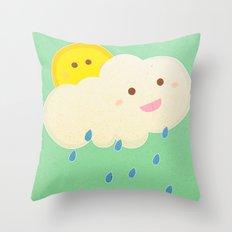 Raining day Throw Pillow