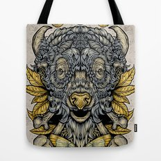 Buffalo Attack Tote Bag