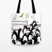 penguins in the bedroom Tote Bag
