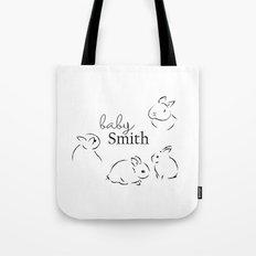 baby smith bunny print Tote Bag