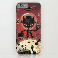 iPhone & iPod Case featuring DJ Hammerhand cat - party at ogm garden by Exit Man