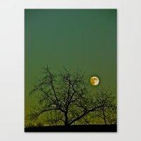 Tangled Tree Moon Canvas Print