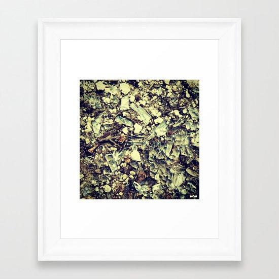 Disintegrate. Framed Art Print