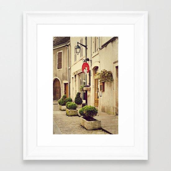 Le P'tit Paradis, Beaune France Storefront Framed Art Print