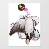 Toot!   Collage Canvas Print