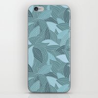 My Dancing Blue Leaves.  iPhone & iPod Skin