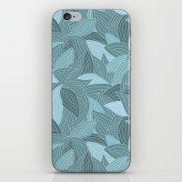 My Dancing Blue Leaves.  iPhone & iPod Skin