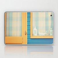 Beach Hut window- orange Laptop & iPad Skin