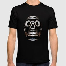 Skull. Día de los muertos. Polygons. Mens Fitted Tee Black SMALL
