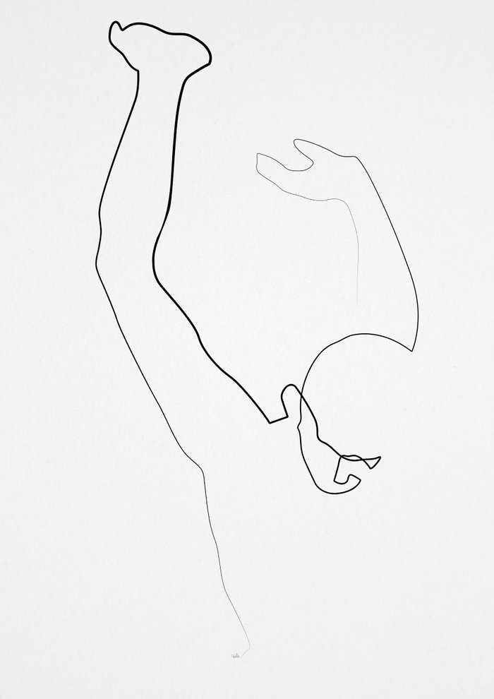 Single Line Art Print : One line atlas from hammersmith art print by quibe