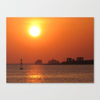 Sunset On Ruins Canvas Print