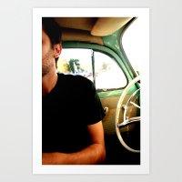 Mitad hombre Mitad volante Art Print