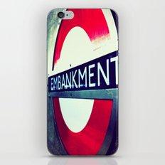 TUBE SIGNS-Embankment iPhone & iPod Skin
