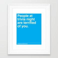 Trivia Night Framed Art Print