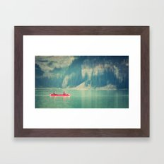 On the lake Framed Art Print