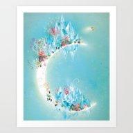 Art Print featuring Crystal Moon by Lisa Evans