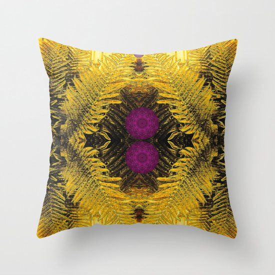 Some greens in the purple Throw Pillow