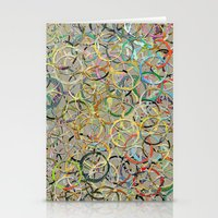 Rainbow Circles Collage Stationery Cards