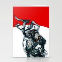 demon rabbit Stationery Cards