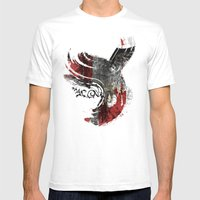 Flying Wind Mens Fitted Tee White SMALL