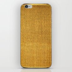 Burlap texture look iPhone & iPod Skin