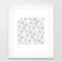 Shy Girls Framed Art Print