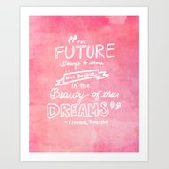 Art Print featuring The Future Belongs To Th… by Studiomarshallarts