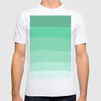 GREEN Mens Fitted Tee Ash Grey SMALL