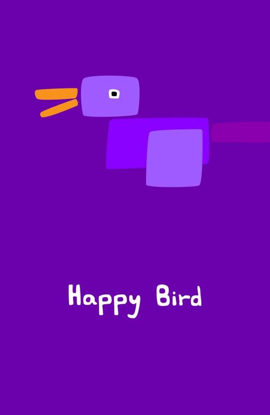 Happy Bird-Purple Canvas Print