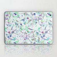 Marbled in blues Laptop & iPad Skin