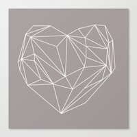 Heart Graphic Canvas Print