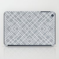 Map Outline 45 Grey Repeat iPad Case