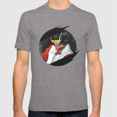 Poe Dameron Mens Fitted Tee Tri-Grey SMALL